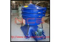 Zinc powder vibrating screen for grading and removing impurity